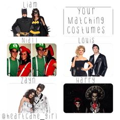 One Direction Preference: those are cool costumes, especially the one that says Harry over it. That one is awesome