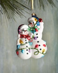 Snowmen Glowmen Christmas Ornament by Christopher Radko at Horchow.