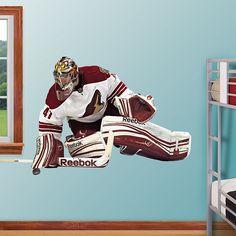 Mike Smith - Phoenix REAL.BIG. Fathead – Peel & Stick Wall Graphic | Arizona Coyotes Wall Decal | Sports Home Decor | Hockey Bedroom/Man Cave/Nursery
