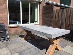 Stoere betonlook tafel