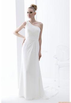 Moderno un-spalla trapezio abito da sposa in chiffon Venus AT6556