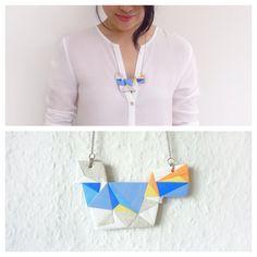 Medium Polymer Clay Necklace Meet Market, Polymer Clay Necklace, Daydream, Tassel Necklace, Mosaic, Medium, Jewelry, Fashion, Moda