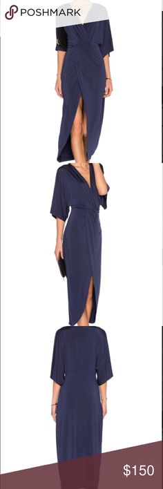 Lovers + Friends Dress Womens Blue Cruise Wrap Dress. Twist wrap front. Jersey knit fabric. Unlined. 94%poly, 6% elastase. Brand new with tag. Never worn. No trades. Lovers + Friends Dresses Midi