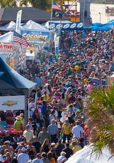 National Shrimp Festival in Gulf Shores, AL . A fantastic Festival.Could this many people be wrong?