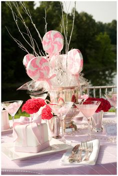 Pretty Pink & Girly Tablescape
