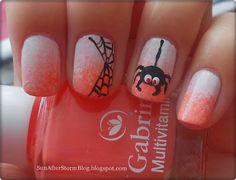 13. Spider (Model unghii de Halloween cu paianjen) - Sun after Storm