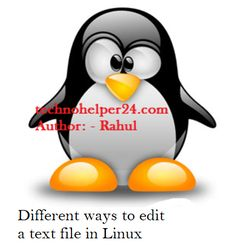 How to edit a text file using different methods in Linux