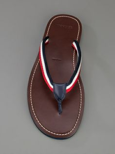 Brown flip flops from MONCLER