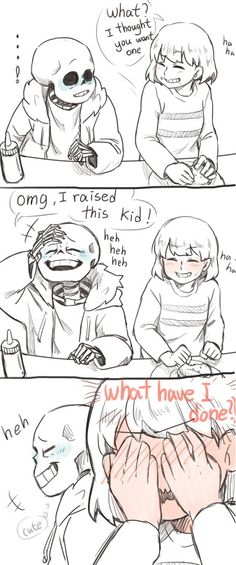 Grillby's date, Sans asks for a burger almost gets a kiss from Frisk part 2