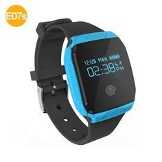E07S GPS Sports Tracking Smart Wristband Watch -BLUE
