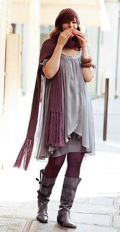 Plus size winter fashion ideas, mainly those clothes created out of fabric which keeps the warmth and insulation inside, protecting the body from cold...
