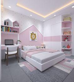 Bedroom kid 1 Bedroom Cupboard Designs, Bedroom Wall Designs, Room Design Bedroom, Small Room Design, Kids Room Design, Bed Design, Cute Bedroom Ideas, Room Ideas Bedroom, Bedroom Decor