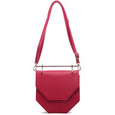Pink Haley Red Hester Crossbody Bag (£24) ❤ liked on Polyvore featuring bags, handbags, shoulder bags, faux-leather handbags, red shoulder bag, red crossbody purse, red cross body purse and white crossbody purse