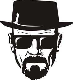 2 - Breaking Bad Heisenberg Stickers - Tall CMYK Die-Cut This sticker is 7 inch tall, CMYK printed and die-cut out of 5 year life vinyl. This is great for vehicles and all Breaking Bad fans. Breaking Bad Tattoo, Art Breaking Bad, Breking Bad, Gravure Laser, Bad Drawings, Bad Tattoos, Tatoos, Movie Tattoos, Tattoo Ideas