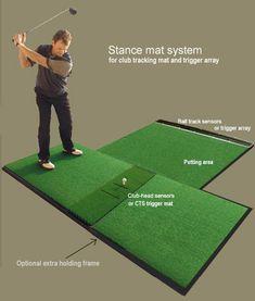 Home Golf Simulator, Artificial Putting Green, Golf Practice Net, Golf Crafts, Golf Room, Golf Simulators, Golf Videos, Golf Ball, Golf Stuff