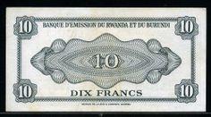 Rwanda Franc   Rwanda-Burundi paper money 50 Francs banknote of 1960, Lioness