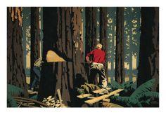 Lumberjacks, 1930 Giclee Print