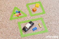 Activities that will prepare your child for kindergarten: Shape sorting activity