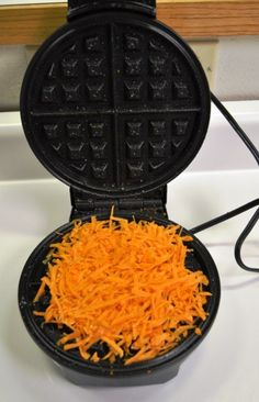Sweet potato hash browns using a waffle maker! http://www.crossfiteverett.com/waffle-iron-hash-browns/
