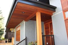 Delightful Extraordinary! Soffit, Siding, And Posts. Located In Calgary, Alberta.  Supplied By Kayu Canada Inc.