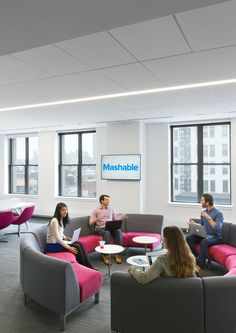 office seating area. Office Tour: Mashable \u2013 New York City Headquarters. || Seating Area F