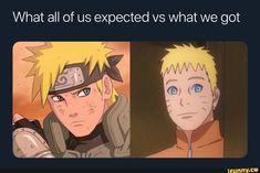What we wanted adult Naruto to look like vs what we got - iFunny :) Anime Naruto, Naruto Shippuden Sasuke, Naruto And Sasuke, Otaku Anime, Itachi, Manga Vs Anime, Funny Naruto Memes, Funny Memes, Anime Meme Face