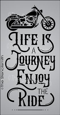 Life is a Journey Enjoy the Ride stencil motorcycle bike biker cruiser riding - BIKERS - Motorrad Harley Davidson Logo, Harley Davidson Motorcycles, Triumph Motorcycles, Custom Motorcycles, Biker Quotes, Women Motorcycle Quotes, Motorcycle Bike, Motorcycle Clipart, Motorcycle Wedding