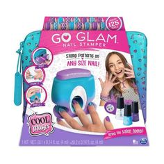 Cool Maker Go Glam nail stamper is the ultimate at-home nail kit to easily stamp and style custom manicures in minutes! Nail Stamper, Shimmer Lip Gloss, Wishlist Shopping, Nail Patterns, Glam Nails, Nail Studio, Trendy Nails, You Nailed It, Kids Toys