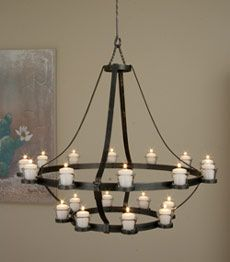 Candle Chandelier Non Electric | Castle Circle of Light Chandelier
