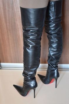 High heels shoes and boots for sale, used and new. Thigh High Boots Heels, Stiletto Boots, Hot High Heels, High Heels Stilettos, Heeled Boots, Women's Over The Knee Boots, High Leather Boots, Sexy Boots, Fashion Boots