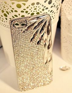 Handmade Bling sparkle diamond crystal pearl Rhinestone iPhone 6 6 plus case iPhone 5 5s 5c 4 4s case cover  girl  lady 2