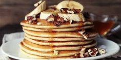 Powdered Peanut Butter Recipes We're Drooling Over: PB Pancakes/Waffles Chickpea Flour Pancakes, No Flour Pancakes, Tasty Pancakes, Protein Pancakes, Pancakes And Waffles, Banana Pancakes, Fluffy Pancakes, Best Healthy Pancake Recipe, Pancake Recipes