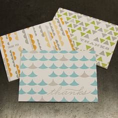 Mod mix cards (set of 6) by Parallel Print Shop $16