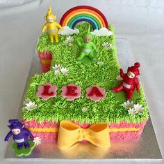 Teletubbies cake Teletubbies Birthday Cake, Teletubbies Cake, 1st Birthday Parties, Birthday Cakes, 2nd Birthday, Birthday Ideas, Number 3 Cakes, Party Themes, Party Ideas