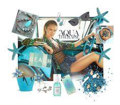 """Aqua Therapy"" by amy-yockel ❤ liked on Polyvore featuring Casetify, Thro, Anja and Warby Parker"