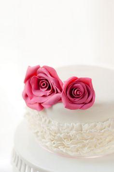 Vanilla Cake with White Chocolate Raspberry Ganache Filling Covered with Dark Chocolate Ganache
