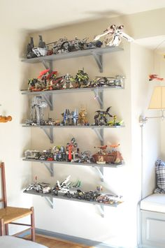 "NINE + SIXTEEN: Our Home | Andrew's ""Teen"" Bedroom - great idea for all the Legos Matt and Smith build together"