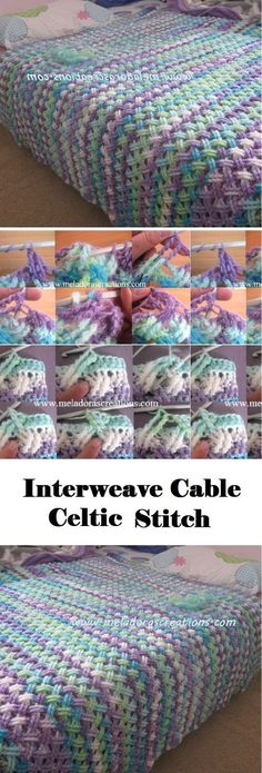 Quick And Easy Crochet Blanket Patterns For Beginners: Interweave Cable Celtic Stitch. Quick And Easy Crochet Blanket Patterns For Beginners: Interweave Cable Celtic Stitch. Crochet Afghans, Motifs Afghans, Afghan Patterns, Knitting Patterns, Crochet Blankets, Easy Patterns, Baby Blankets, Stitch Patterns, Crochet Bedspread