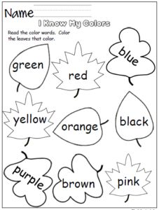 Free mitten color word practice. Great for Pre-K and Kindergarten during the winter. You can find free winter alphabet and math printables here Sample Printables. This page is from my Winter Math A…