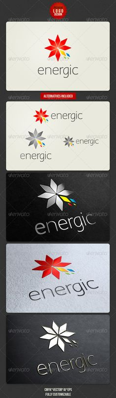 Energic Clean  - Logo Design Template Vector #logotype Download it here: http://graphicriver.net/item/energic-clean-logo-design/2673471?s_rank=585?ref=nesto