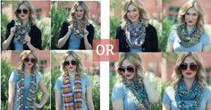 Take your pick of either set of 4 Infinity Scarves! Just $15.99 + FREE Shipping!