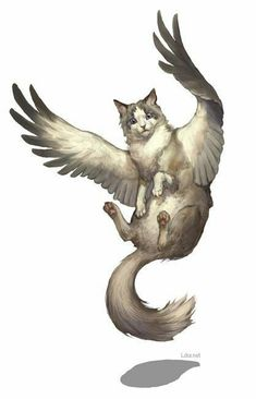 RPG cat clipart,animal,wing,flying clipart Cartier Watches Exoticism and Sensuality Upon the Wrist: Mythical Creatures Art, Mythological Creatures, Magical Creatures, Cute Fantasy Creatures, Cat Clipart, Simple Illustration, Manga Illustration, Creature Concept, Creature Design