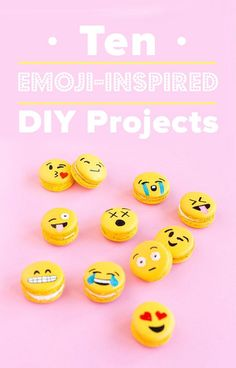 Bring the Internet to real life with these emoji-inspired DIY projects.