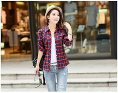 casual check shirts for women - Google Search
