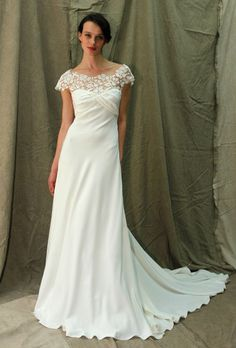 Brides.com: Celebrity Wedding Dress Ideas. For Reese Witherspoon...We're throwing a long dress into the mix because Reese, a Tennessee native, remains very connected to her country-girl roots—she even owns a farm in California. Should she decide to marry there, we'd like to see her in this Lela Rose dress, which has an appropriately rustic feel, but still looks girlish and fresh.
