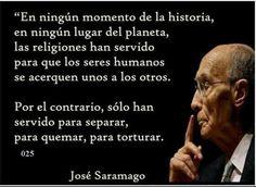 José Saramago: Religiones a veces