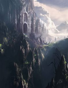 Fantastical concept art by Julian Bauer.