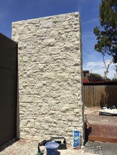 South Australian Limestone cladding, feature pillar.