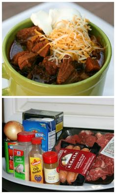 Slow Cooker Meat Lover's No-Bean Chili from A Year of Slow Cooking