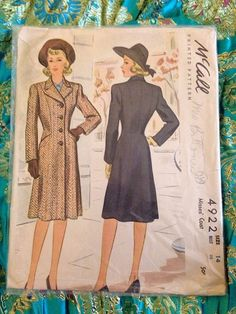 SALE 1940s Sewing Pattern Vintage McCall's by PandoricaPoofbunnie